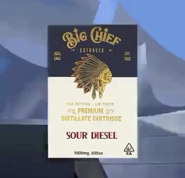 big chief extracts vape carts sour diesel